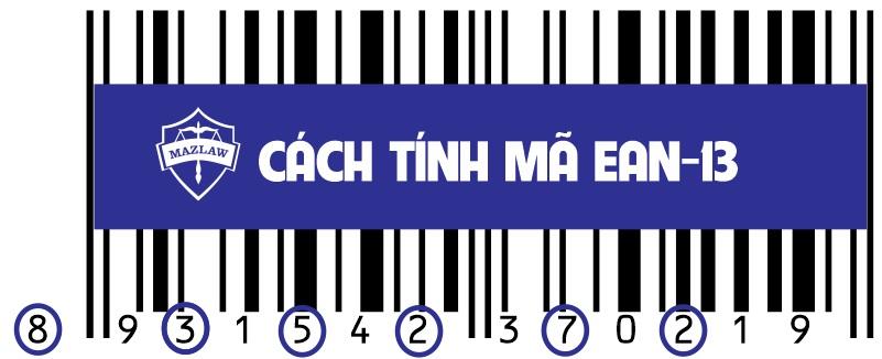 Cách tính để kiểm tra mã số mã vạch EAN-13