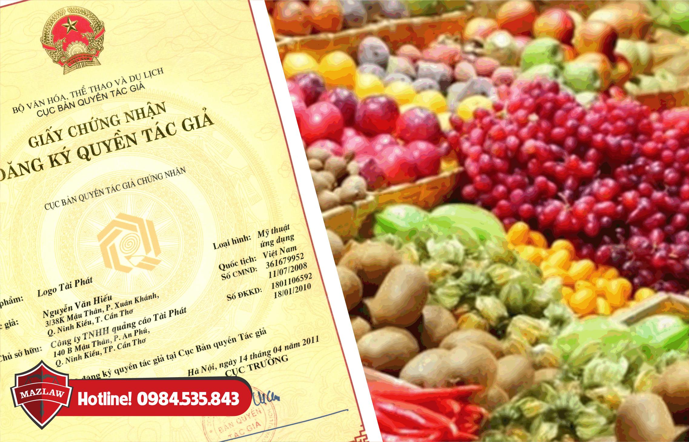 Hướng dẫn đăng ký bản quyền thương hiệu nông sản - Luật Maz