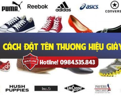 cách đặt tên thương hiệu giày