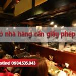 Mở nhà hàng cần giấy phép gì?