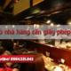 Mở nhà hàng cần giấy phép gì