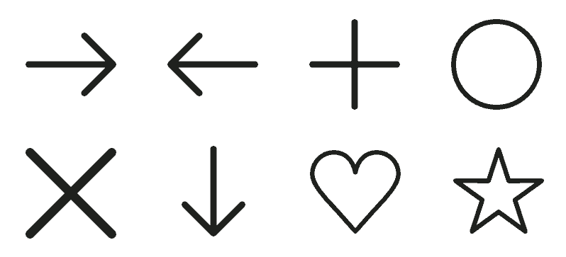 Dấu hiệu là ký hiệu đơn giản